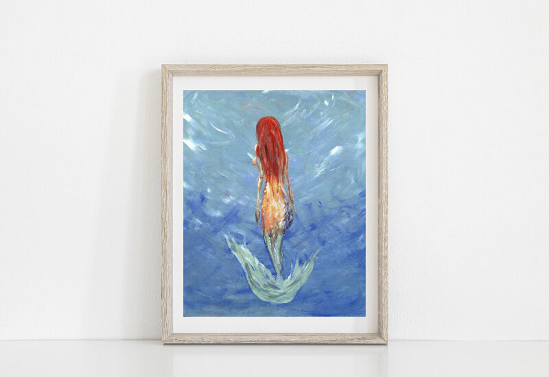 mermaidartprint