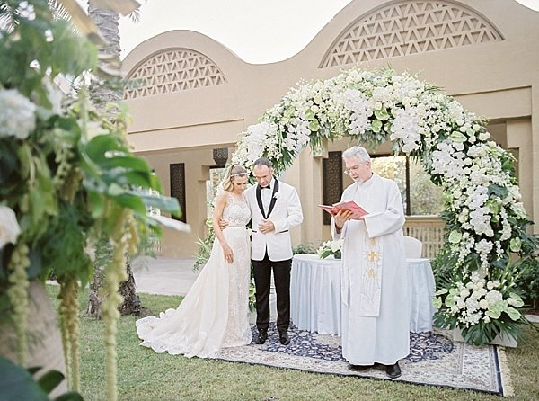 Outdoor Wedding Ceremony One and Only Royal Mirage Dubai 1