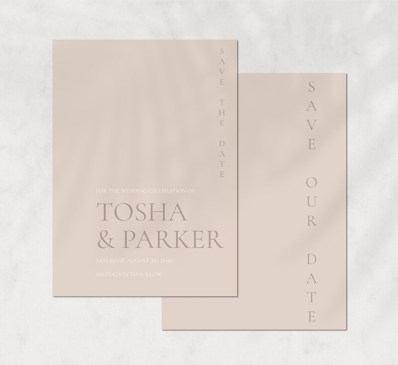 Tosha&Parker suite - save the date