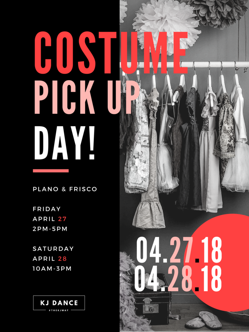 COSTUME PICK UP DAY 2018