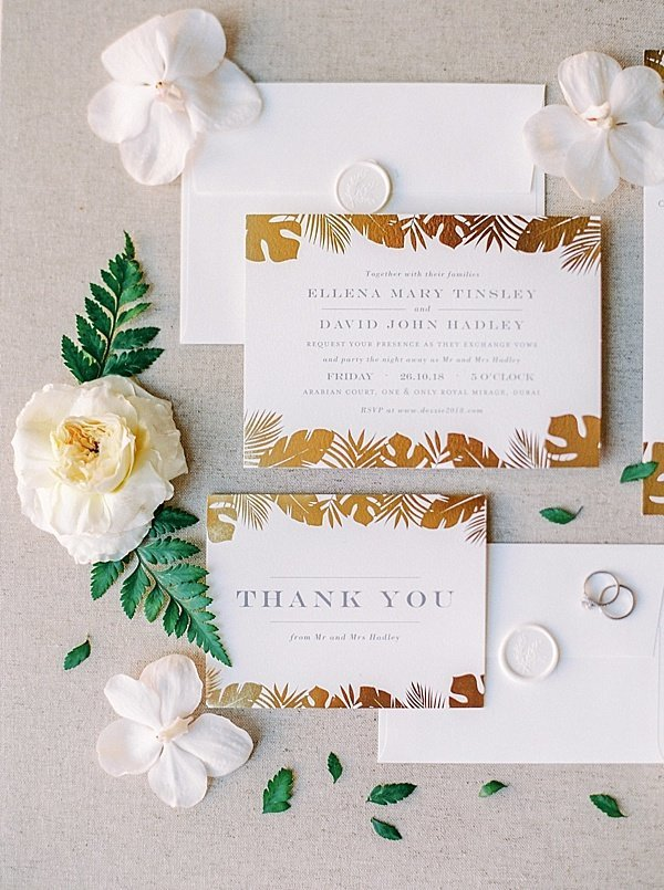 Classic Invitation Suite Wedding Dubai