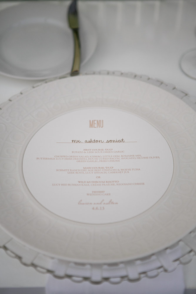 Lauren & Ashton Round Menu