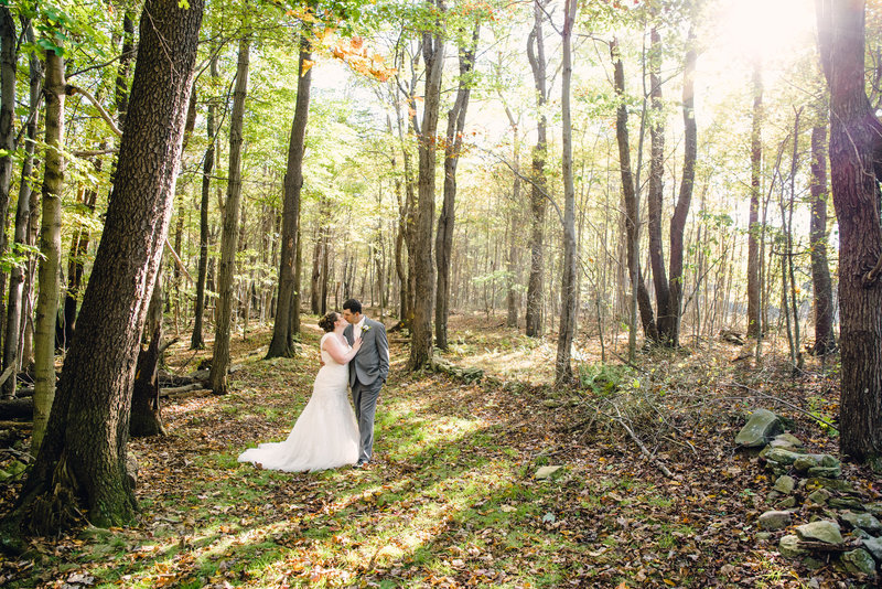 bride and groom at jumonville