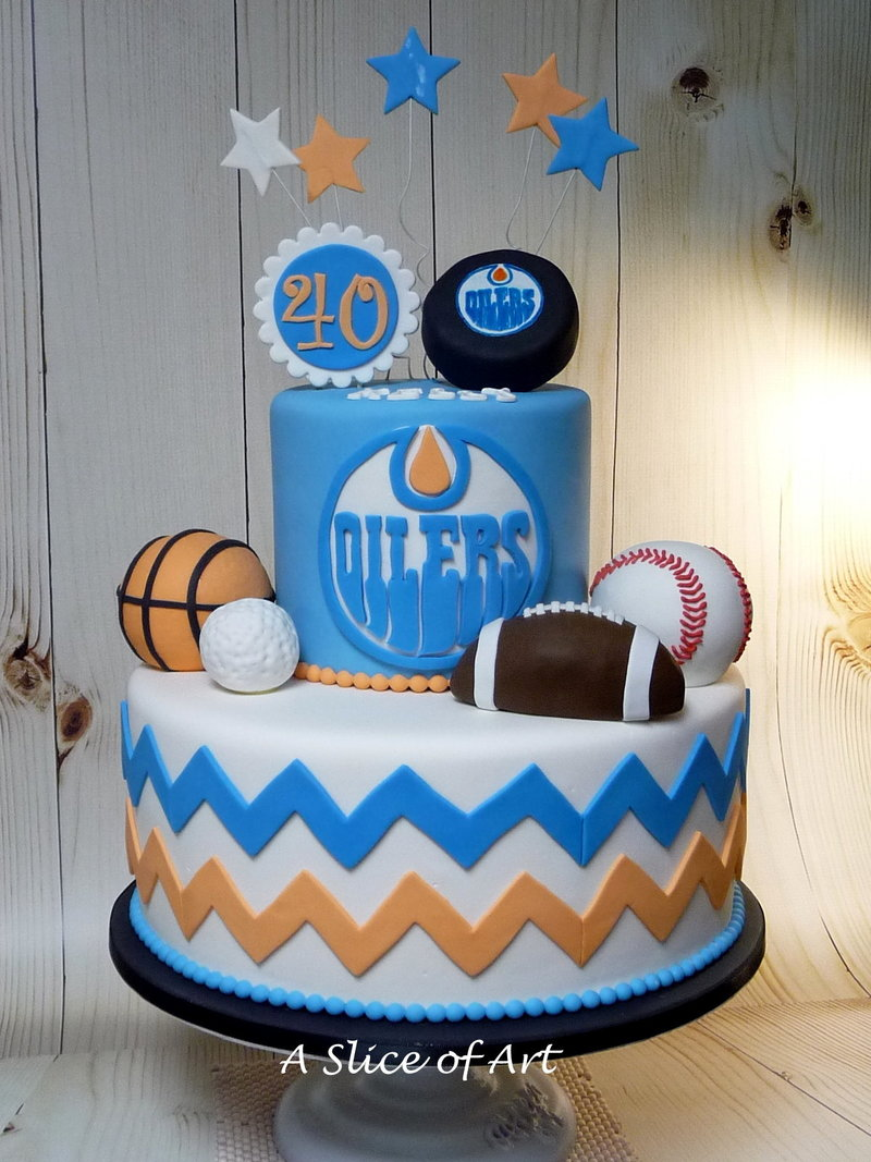 sports ball birthday cake