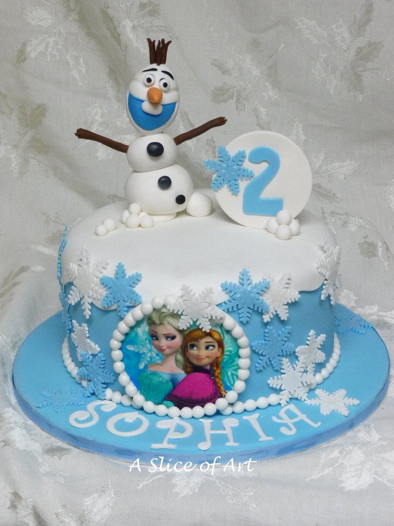 frozen topper birthday cake