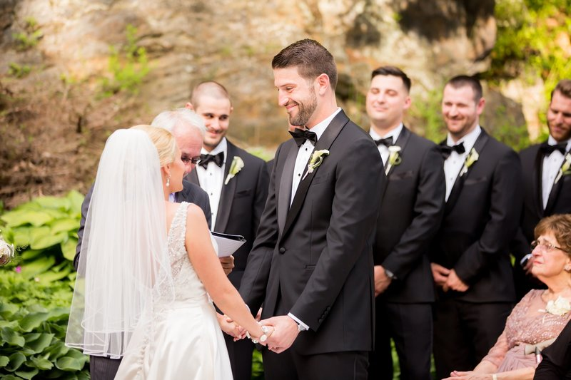Wedding ceremony at Castle Hill Inn Resort