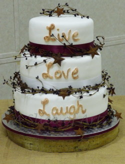 rustic branch wedding cake