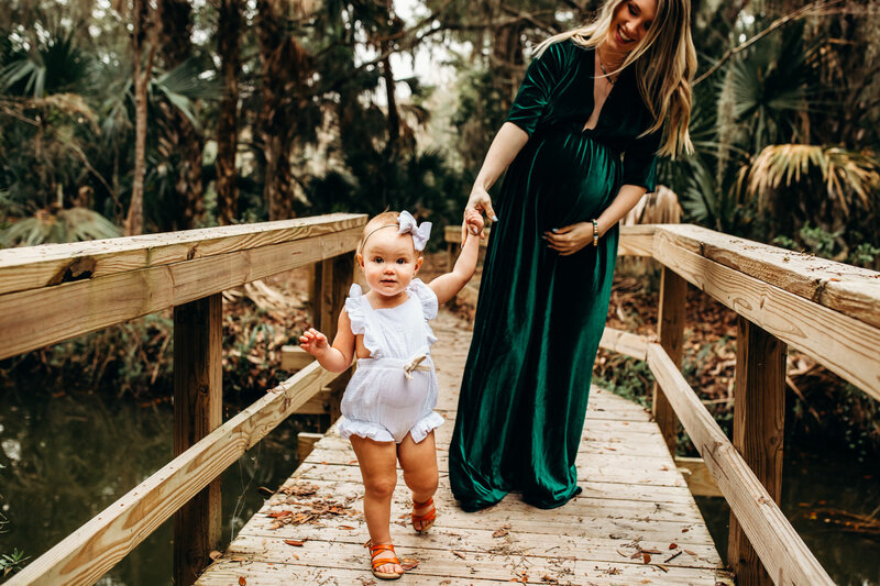 Jacksonville Florida Boho Maternity Session-32