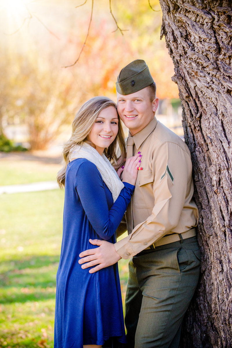 JandDstudio-engagement-rustic-vintage-military-fall (5)