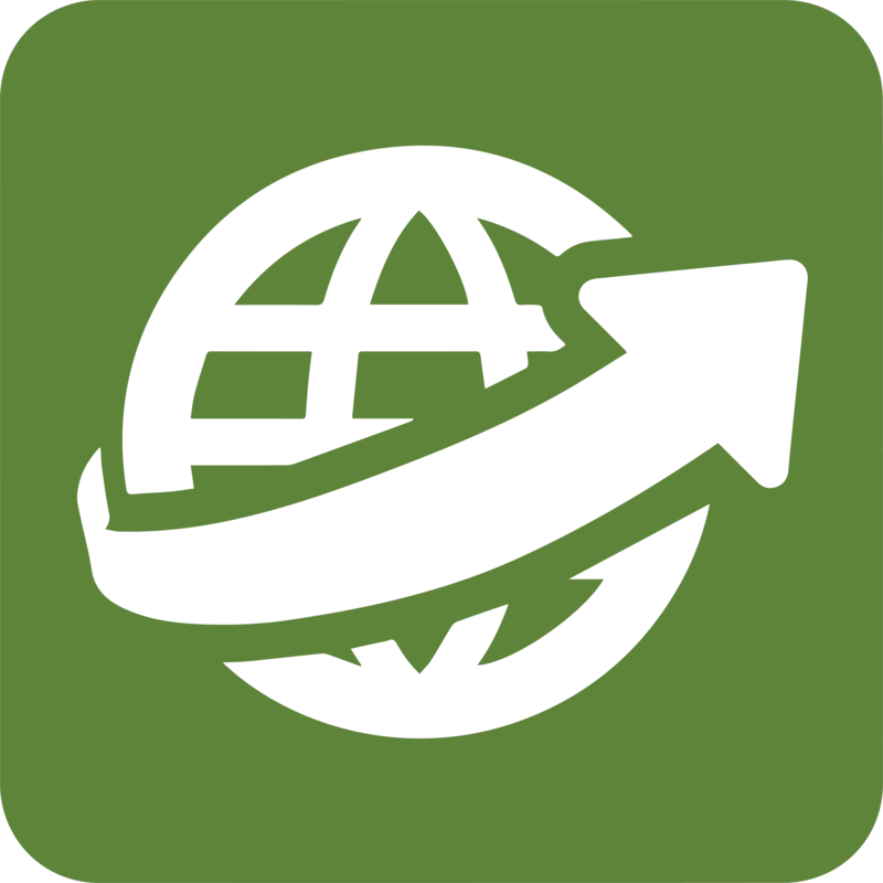 globe arrow icon