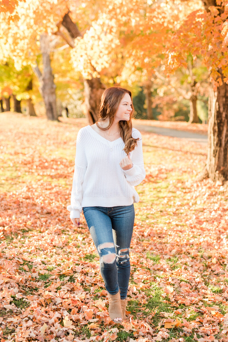Richmond senior portrait photography casual fall maymont park girl-2