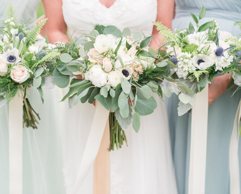 pastel wedding bouquets hampton roads virginia wedding