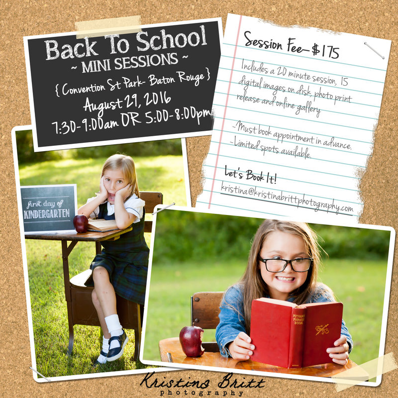Back to School minis 2016