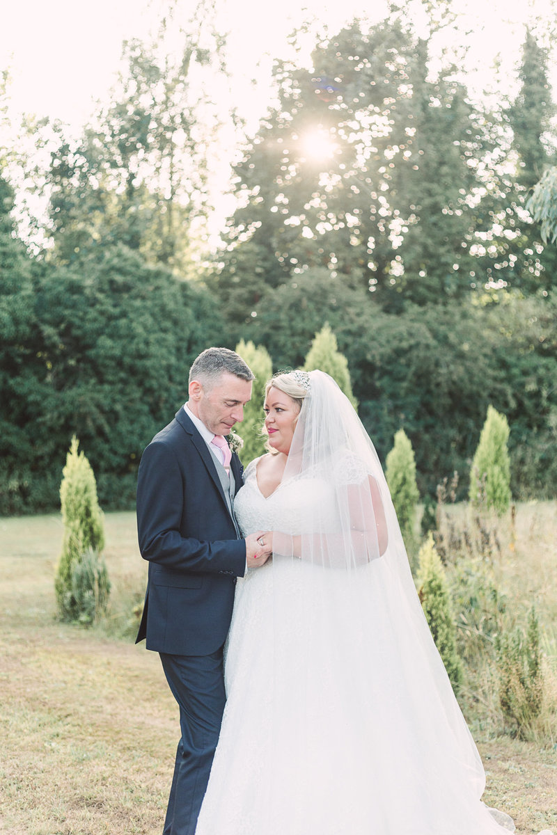 Couples portrait at Iscoyd park wedding