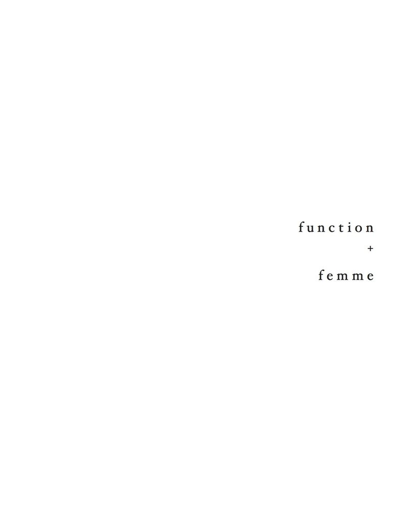 function + femme lookbook page 1