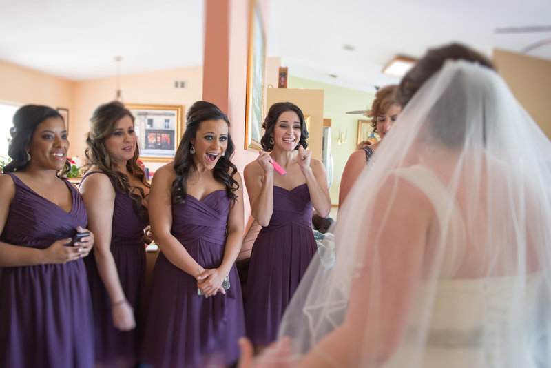 Bride and Bridesmaids Sneak Peek