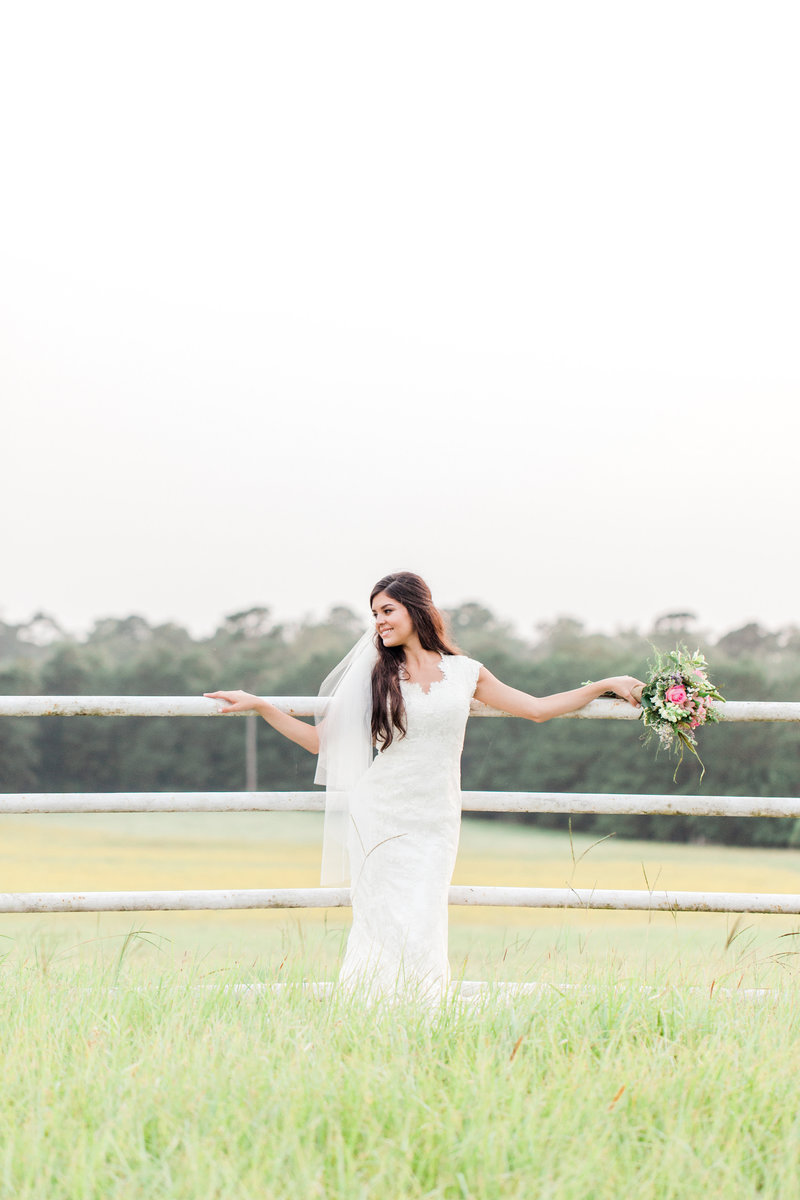 Bride outdoors in Texas