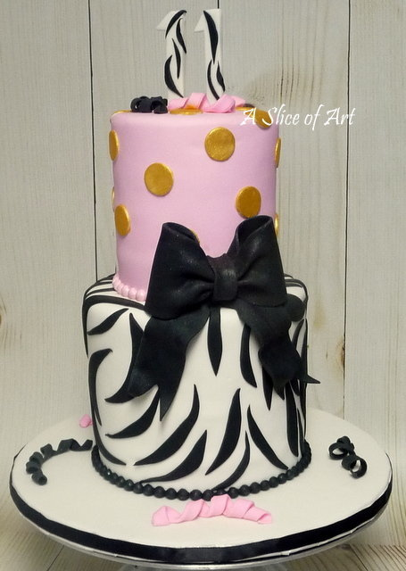 zebra birthday cake