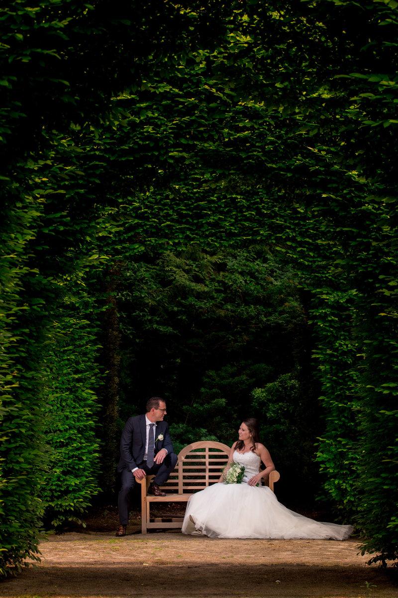 De groene jager Brasschaat huwelijk Sylvie en Tuur foto