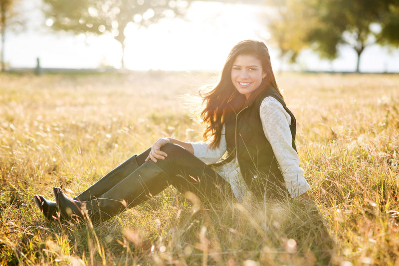 High School Senior Picture at Whitney Point at White Rock Lake Dallas, Texas
