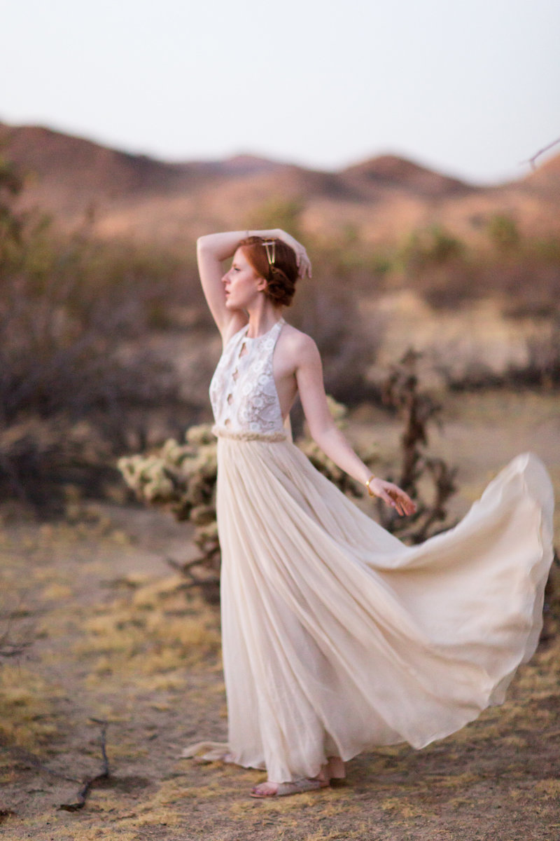 Joshua Tree Dress Model Portrait | Clara Ann Photography | Joshua Tree Wedding Photographer