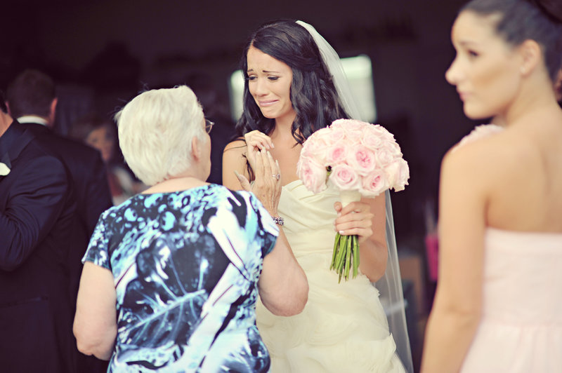 Bride and her grandmother at Calgary wedding