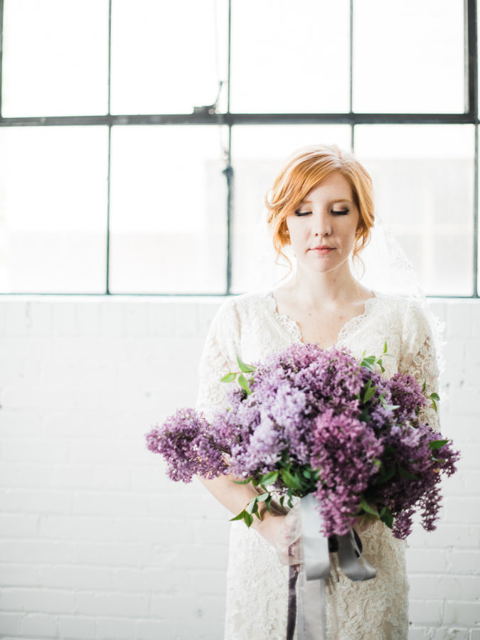 Floral Bouquet Editorial Bridal Portraits Salt Lake City