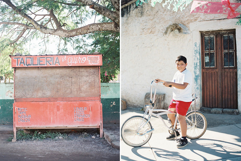sarah hannam travel photographer mexico taqueria boy on bicycle