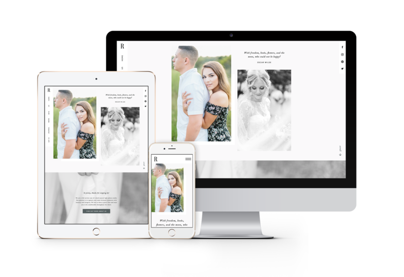 Classic easy to customize drag and drop website templates for photographers