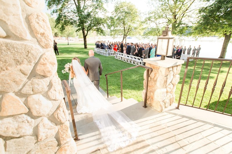 Indian Trail Club wedding ceremony