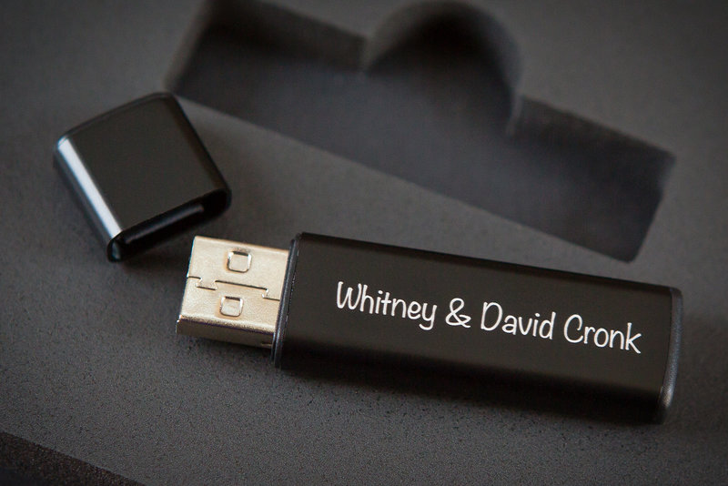 Custom USB sample for all wedding clients.