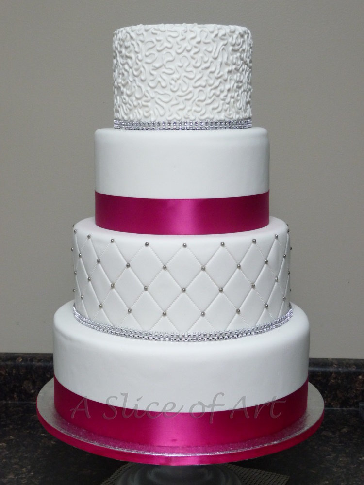 quilted cornelli lace wedding cake 2