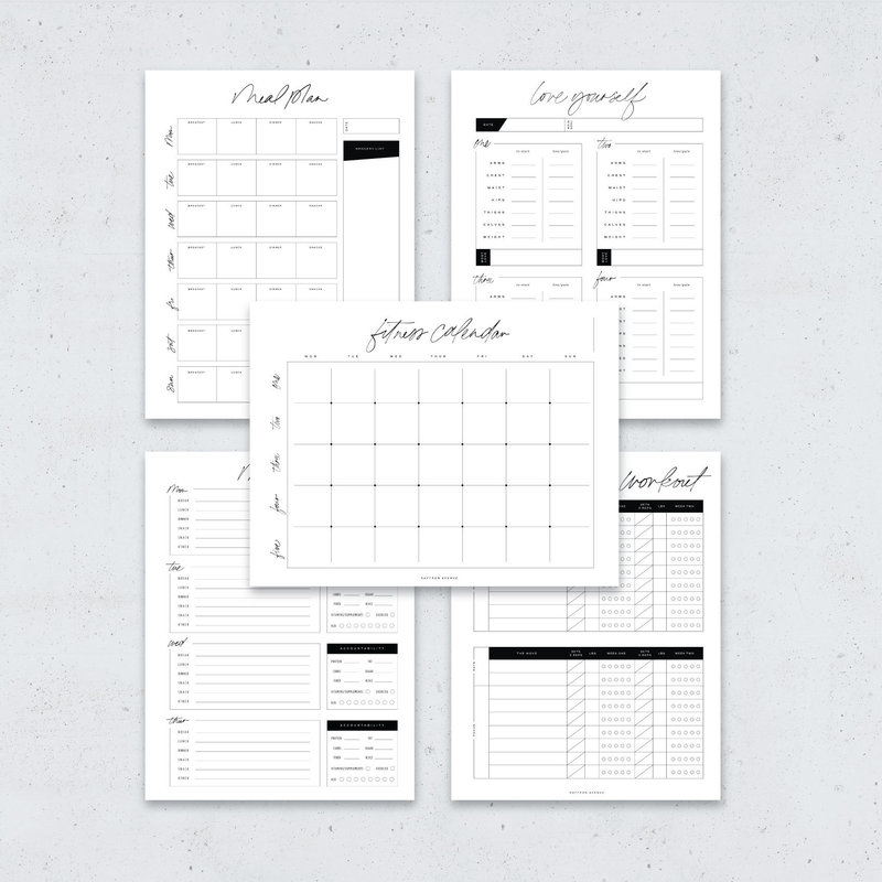 Health-and-Fitness-Printable-and-Digital-Planner-2018