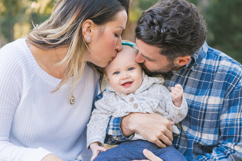 Grass Valley CA Family Session kissing baby