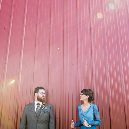 Cute hipster wedding in Emporia Kansas