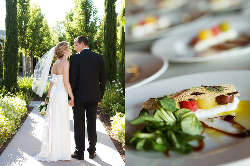 Rosewood Sandhill, Wedding, Bride and Groom, wedding appetiser, Jennifer Baciocco Photography