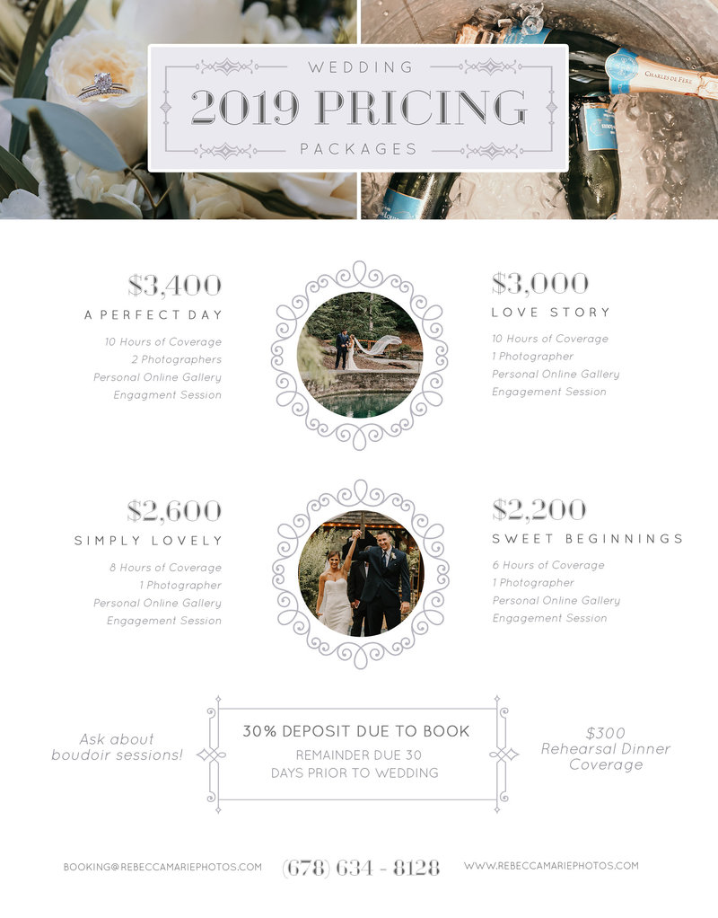 2019 WEDDING PRICING