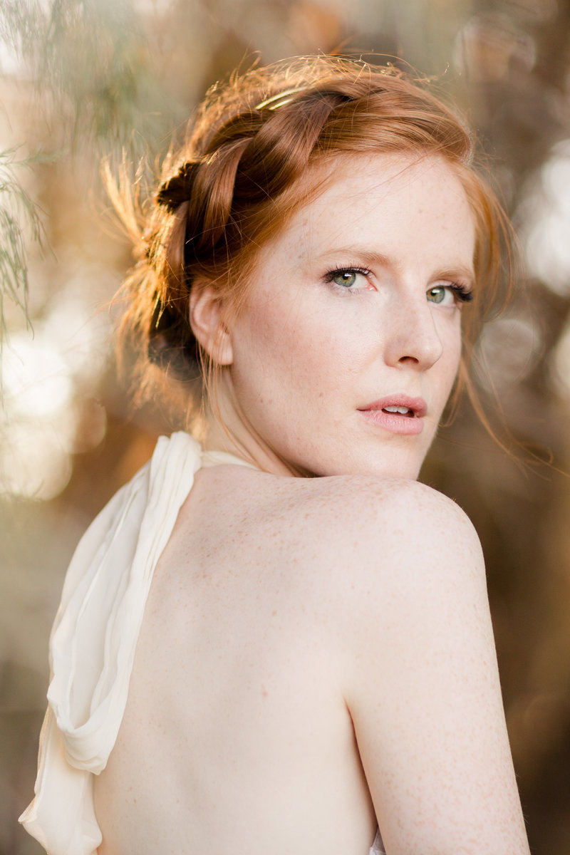 Joshua Tree Redhead Model Portrait | Clara Ann Photography | Joshua Tree Wedding Photographer