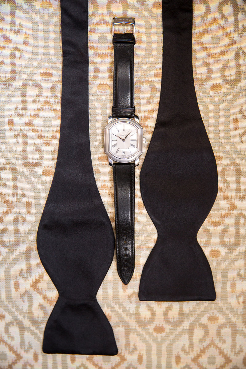 Classic black ties at Rumson Country Club Wedding