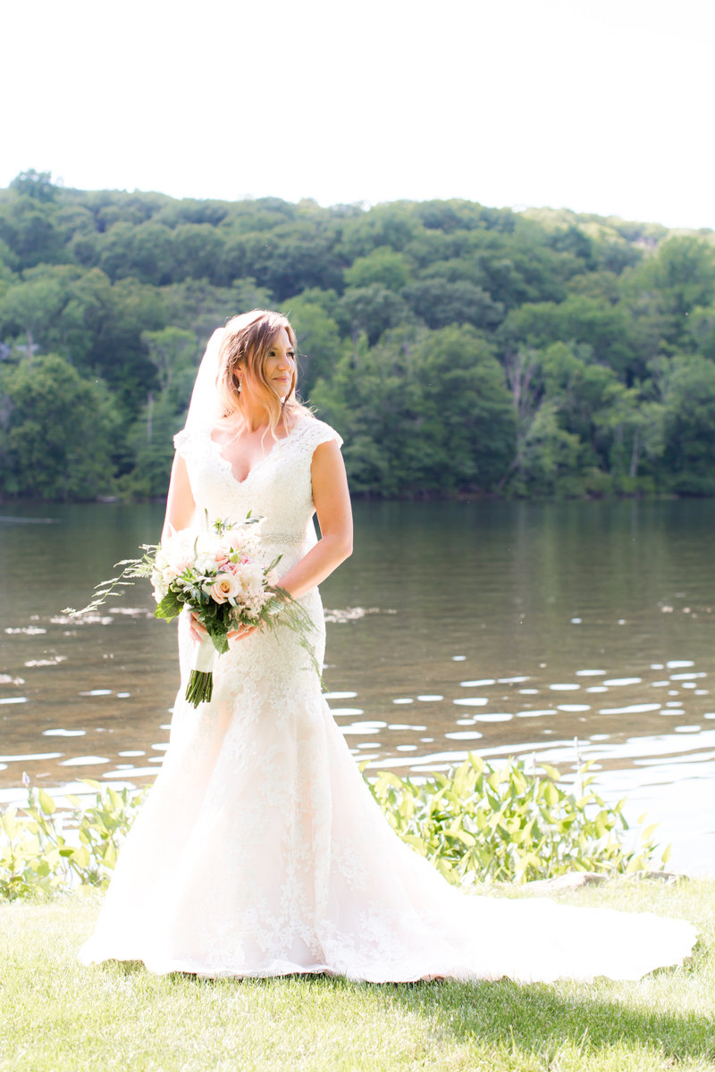 Bridal portrait at Lake Valhalla