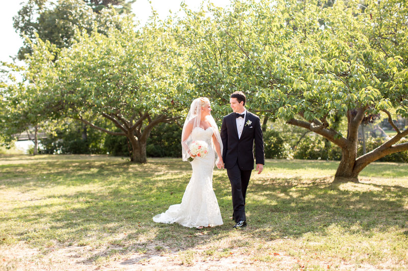 Bride and groom at Divine Park