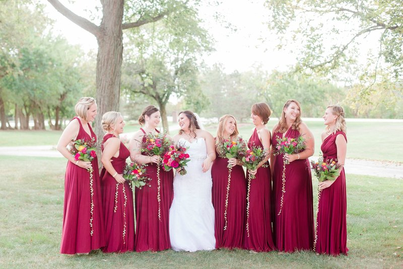 Burgandy Bridal Party Nazareth Hall Toledo and Detroit Based Wedding Photographers Kent & Stephanie Photography_0653