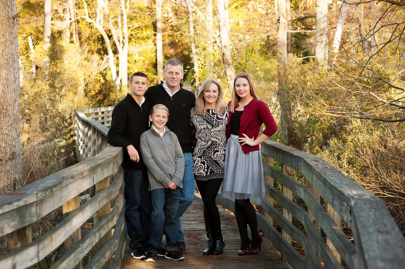 Family at Two Rivers Country Club Williamsburg Virginia