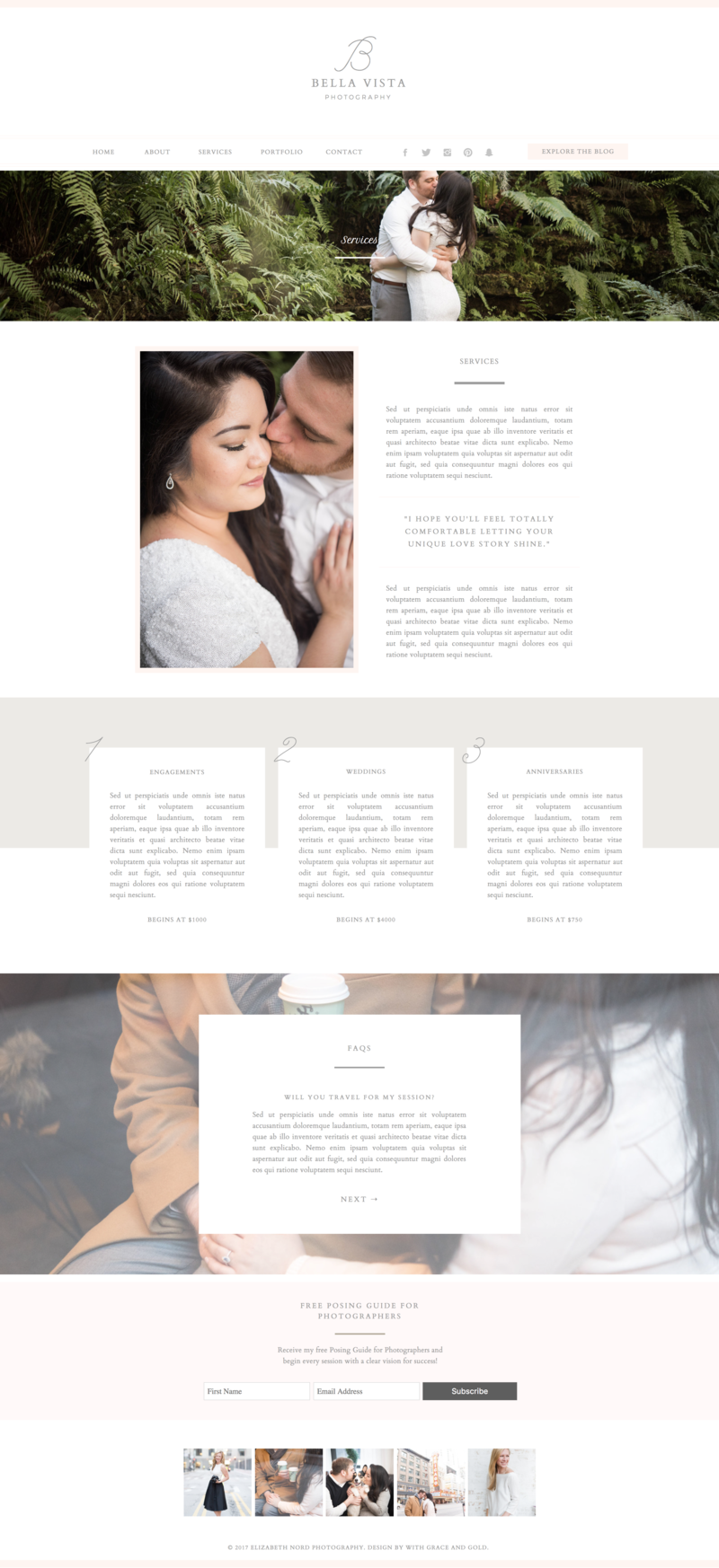Bella Vista - With Grace and Gold - Showit Design, Designs, Designer, Theme, Themes, Template, Templates - Services