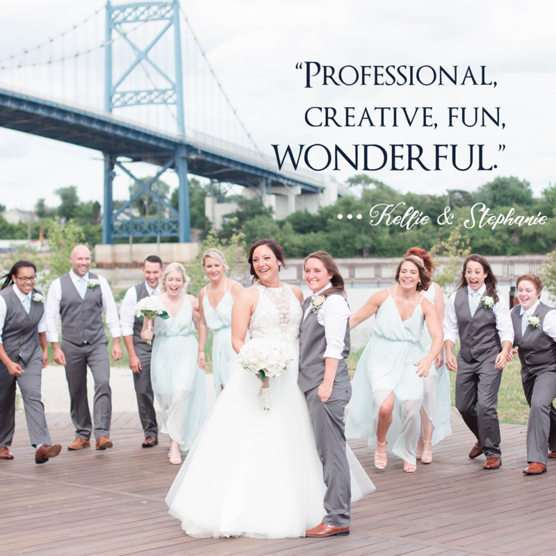 Kent & Stephanie Photography downtown Toledo wedding