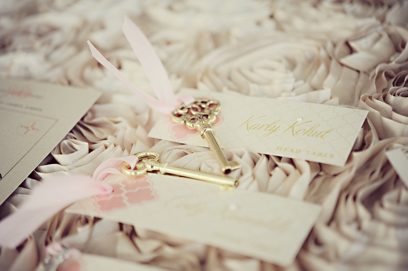 Beautiful escort cards wedding stationery at a Calgary wedding