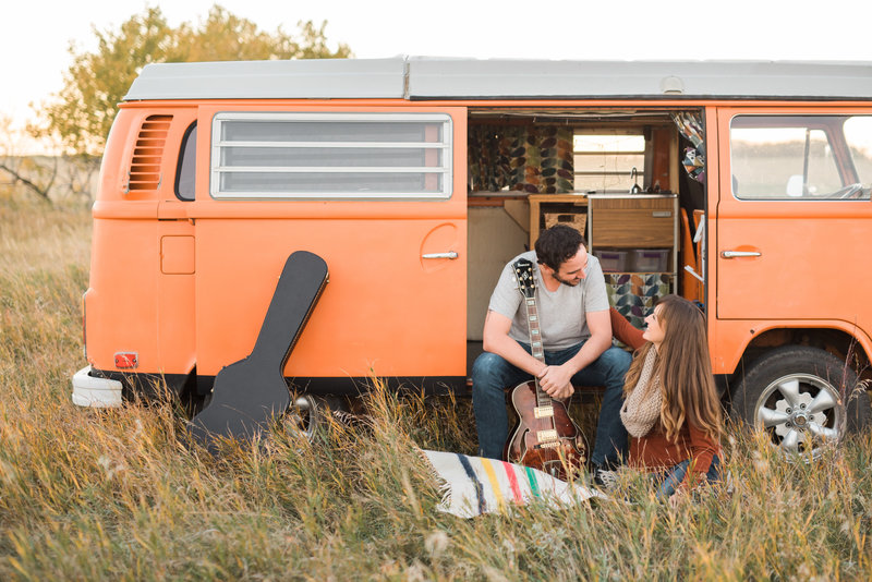 Red Deer engagement photos-VW themed engagement session-red deer photographers-raelene schulmeister photography