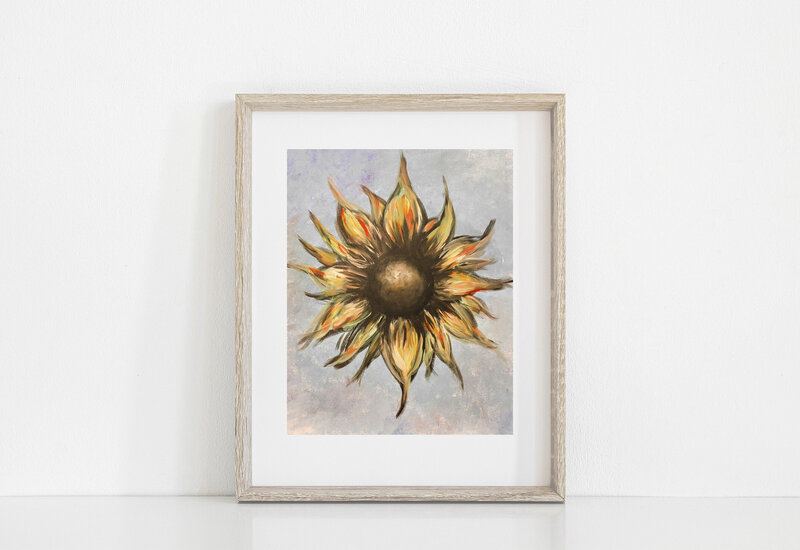 sunflowerartprint