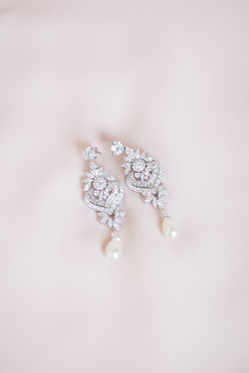 Washington DC wedding photographer wedding earrings