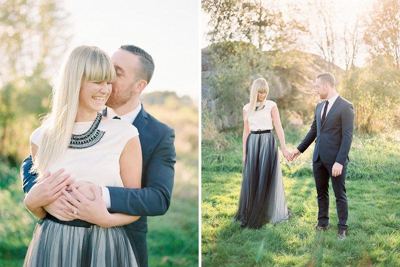 004-bride-and-groom-in-the-sunset--bride-in-black-tulle-skirt